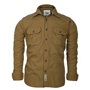 Basics 10BSH23091 Men's Shirt-Khaki