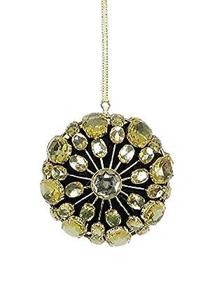 Sage & Co. Gold Jewel Medallion Clasp Ornament