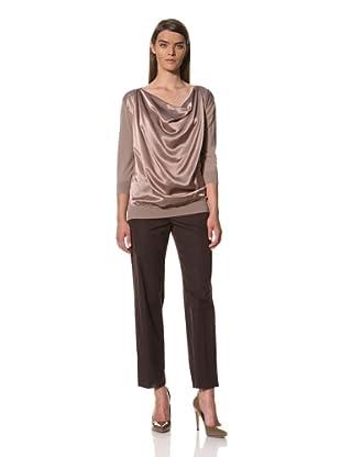 JIL SANDER Women's Silk-Front Sweater