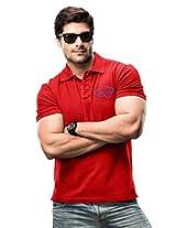 MEN POLO T-SHIRT RED XL