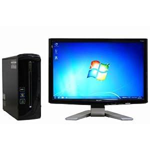 中古 デスクトップパソコン【液晶セット】【Windows7 64bit版搭載】【Athlon2×4搭載】【メモリー8GB搭載】【ハードディスク1TB搭載】【DVDマルチ搭載】 Gateway SX2311-N42C/ L (121711)