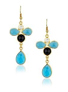 Zariin Black & Blue Dance with Me Earrings