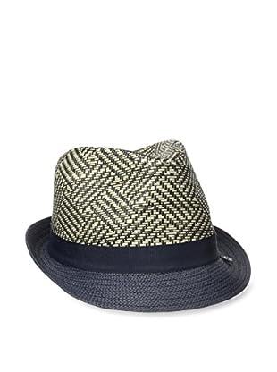 Block Men's Basket Pattern Straw Trilby Hat