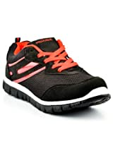 Provogue Mesh Sports Shoes PV1057-Black & Red