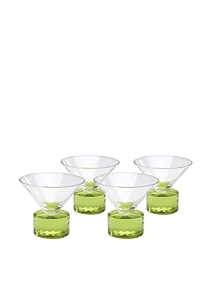 Chisel Coupe, Green, Set of 4