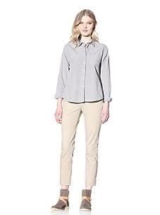 Steven Alan Women's Reverse Seam Shirt (Blue/Ivory Check)