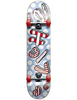 Cliche 10526193 Blow Up Complete Skateboards, FUL7.8, Red/White