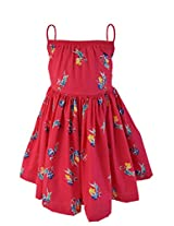 Faye Parrot Print Fuchsia Dress 6-7Y
