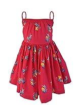 Faye Parrot Print Fuchsia Dress 5-6Y