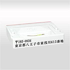 【クリックで詳細表示】ゴム印 分割印・アドレスマークII 57mm×10.5mm(2行) 1枚: 文房具・オフィス用品