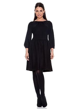 Caramelo Vestido Clásico (Negro)