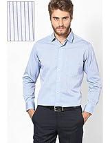 Blue Comtemporary Fit Custom Formal Shirt