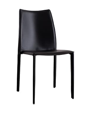 Urban Spaces Lido 2 Side Chair, Black