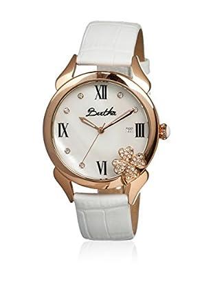 Bertha Uhr mit Japanischem Quarzuhrwerk Clover weiß 41 mm
