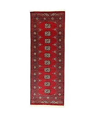 L'EDEN DEL TAPPETO Alfombra Kashmirian Rojo/Multicolor 76 x 211 cm
