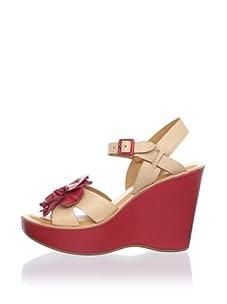 Kork-Ease Women's Mina Wedge Sandal (Parline/Rose)