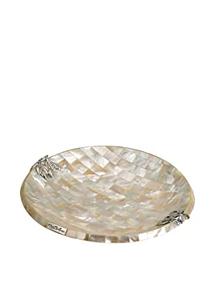 Neda Behman Round Mother of Pearl & Sterling Silver Dish