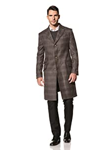 Vivienne Westwood Men's Coach Check Melton Coat (Brown)