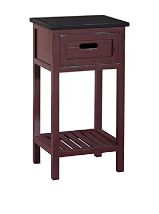 Gallerie Décor Shoreham 1-Drawer Accent Table, Red