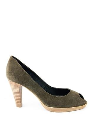 Eye Shoes Zapatos Peep Toe (Verde Oscuro)