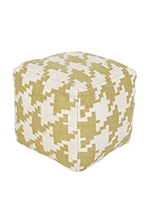 Surya Frontier Pouf, Yellow