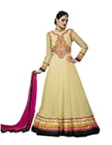 Adah Georgette Dress Material (Beige) - 561-1008