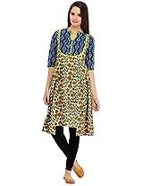 Aana Women's Cotton Regular Fit Kurti (ASKA065F052BMT, Multi, XL)