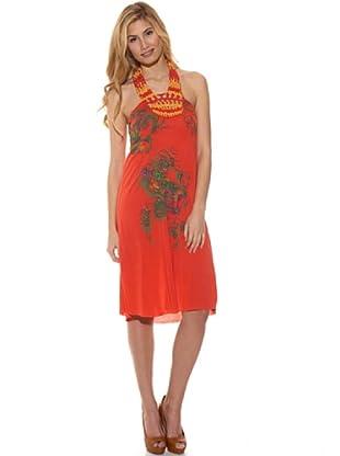 Peace & Love Vestido Estampado (Coral)