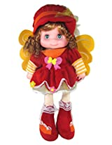 Tickles Red Gorgeous Fairy Doll Stuffed Soft Plush Toy Love Girl 40 cm