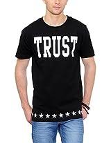 Yepme Men's Black Graphic Cotton T-shirt -YPMTEES0540_M