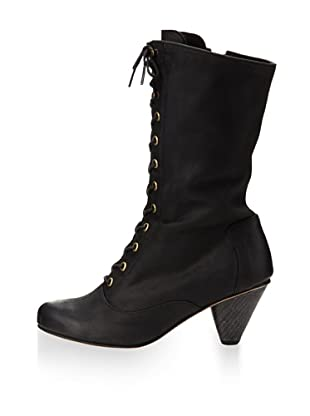 J. Shoes Women's Dolly Lace-Up Boot (Black)