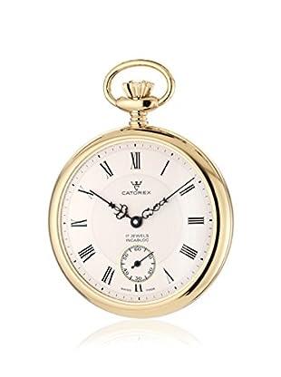 Catorex Men's 170.6.1824.410 Les Breuleux 18K Gold-Plated Brushed Pocket Watch