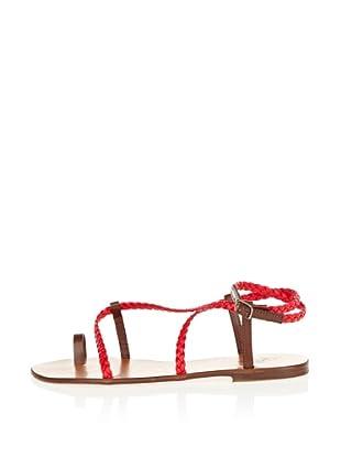 US Polo Assn Sandale Edith (dunkelbraun/rot)