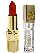 BLUE HEAVEN Xpression Lipstick MO 161 & Glittering Lip Gloss 500 Combo