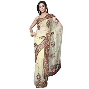 Embroidery Georgette Saree: S5541