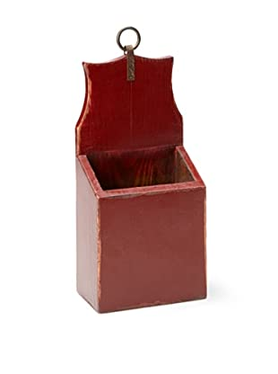 Antique Revival Small Mail & Keys Box (Red)