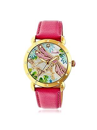 Bertha Women's BTHBR5004 Jennifer Hot Pink/Multicolor Leather Watch