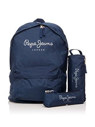 Pepe Jeans Set de mochila + 2 estuches Azul Marino