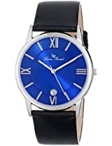 "Lucien Piccard Unisex LP-10608-03 ""Moiry"" Stainless Steel Watch with Black Leather Strap"