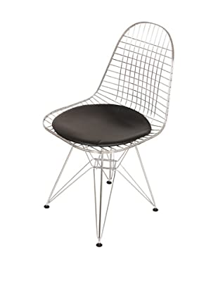Control Brand The Anders Side Chair, Black/Chrome