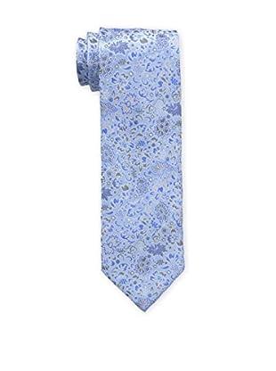 Bruno Piattelli Men's Floral Silk Tie, Blue