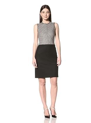 Derek Lam Women's Check Sleeveless Shift Dress (Red/Black/White)