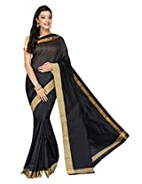 Korni Cotton Silk Banarasi Saree DS-1530- Black KR0476