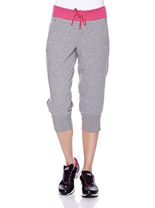 PUMA 3/4 Trainingshose Move Sweat (grau/cabaret)