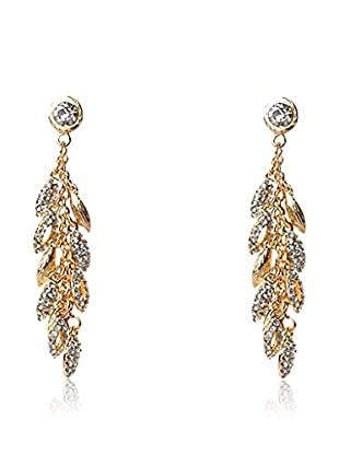 Majique Pendientes Transparent, Gold Tone