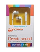 Micromax Headset with Mic For Canvas Juice A77 (OEM) - White