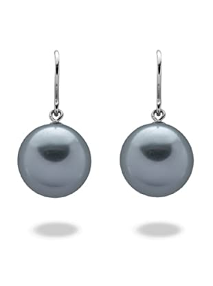 Perldor T 60650186 - Pendientes de mujer de plata de ley con perla del mar del sur (2 perlas)