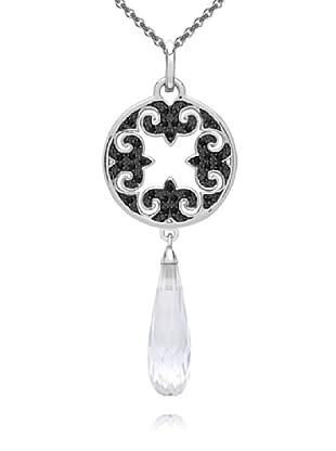 Nahla Jewels Anhänger (ohne Kette) Sterling Silber Zirkonia Spinell schwarz