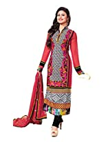 Adah Semi Stitched Georgette Salwar Kameez -594-9007