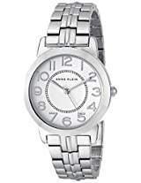 "Anne Klein Women's ""AK/1791SVSV"" Easy to Read Dial Silver-Tone Bracelet Watch"